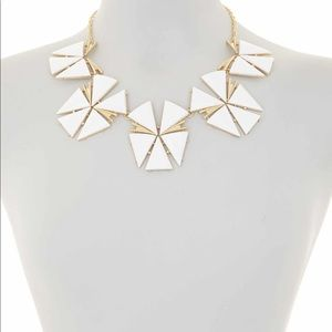 TRINA TURK GEOMETRIC FLOWER STATEMENT NECKLACE